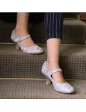 Sapatos Novia Tacones bajos y anchos