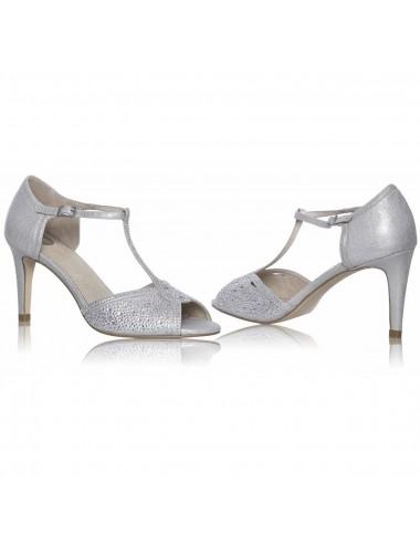 Zapatos Novia Plata Laine