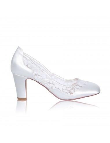 Zapato Novia Tacón Grueso