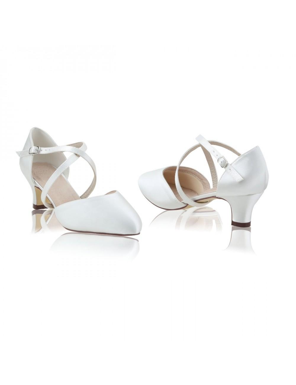 Zapatos Novia Renate Saten