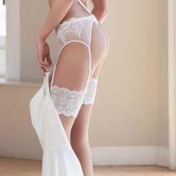 Medias novia antideslizantes piel