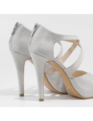 Zapatos Novia Gris