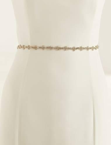 Cinto pedrería vestido de novia