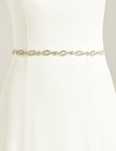 Cinto aplique vestido novia Delfos