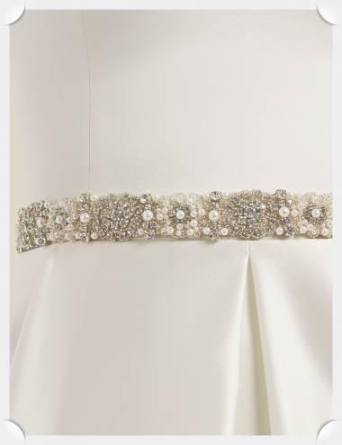 Cinturon vestido de novia Chania
