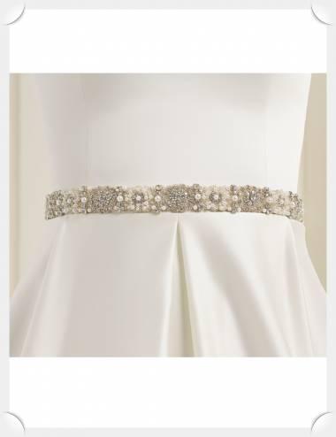 Cinturon pedreria novia