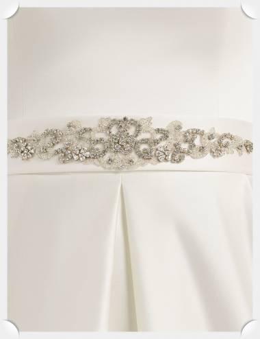 Aplique cristales vestido de novia