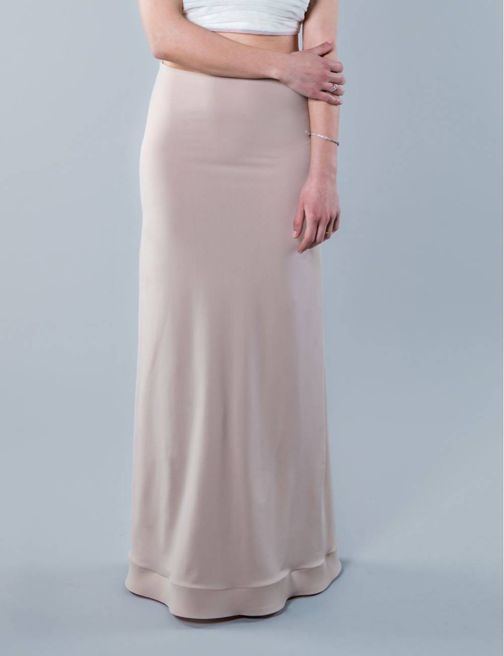 Enagua vestido de novia nude