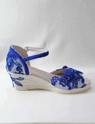 Alpargatas azules para novias o invitadas