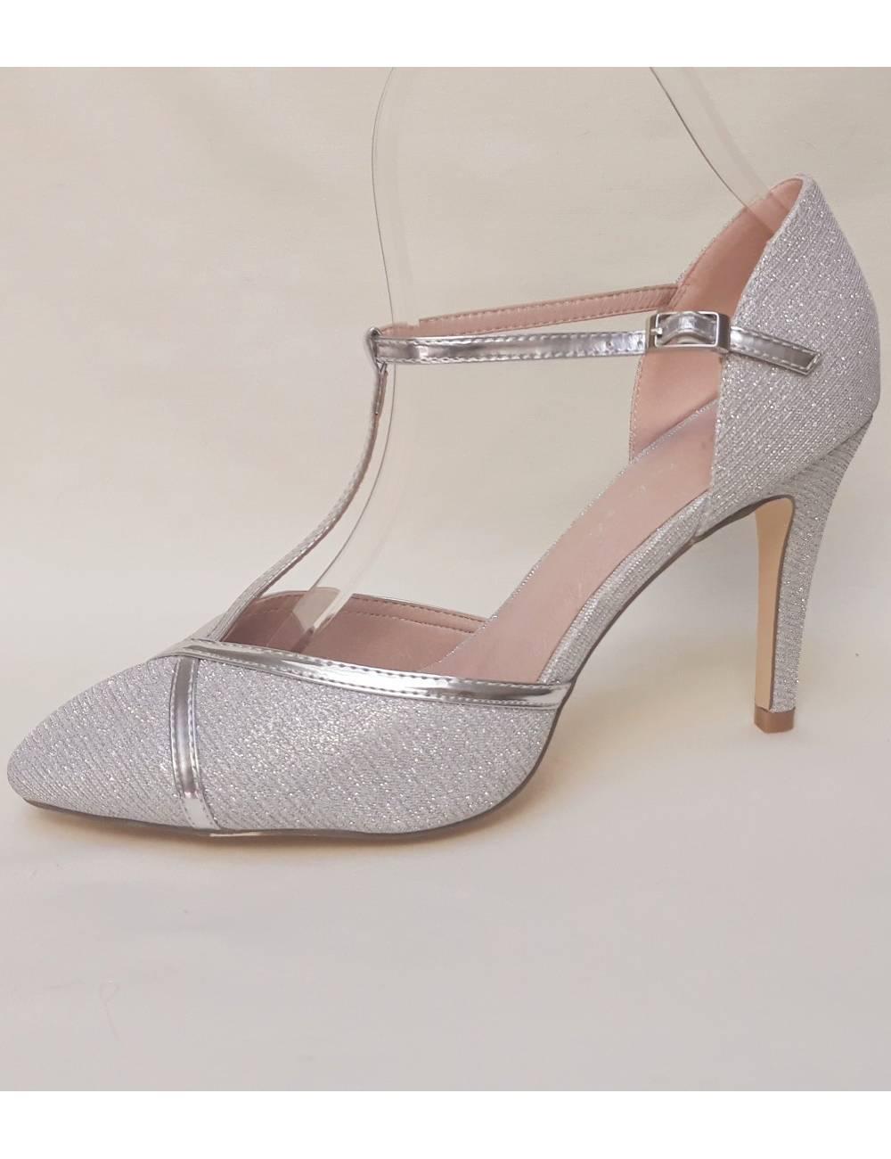 Zapatos Fiesta plata