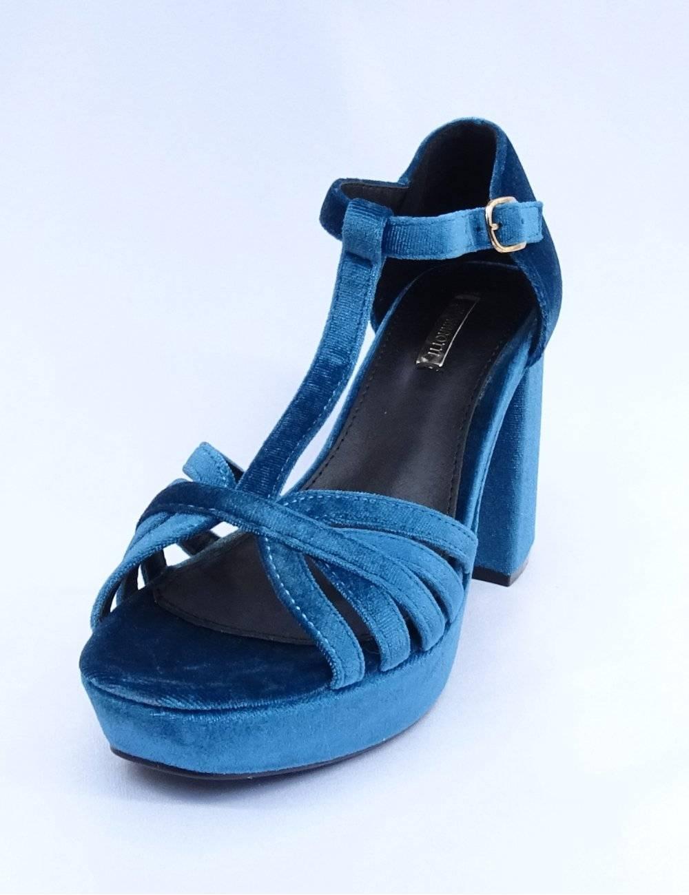 Sandalias Azules Fiesta