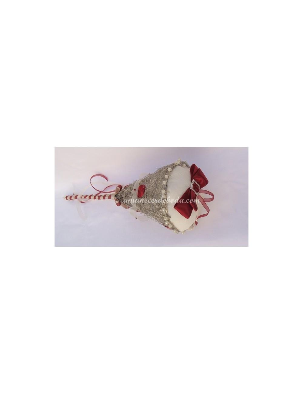 Cojin anillos boda granate