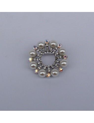 Broche Bouquet de Novia perlas